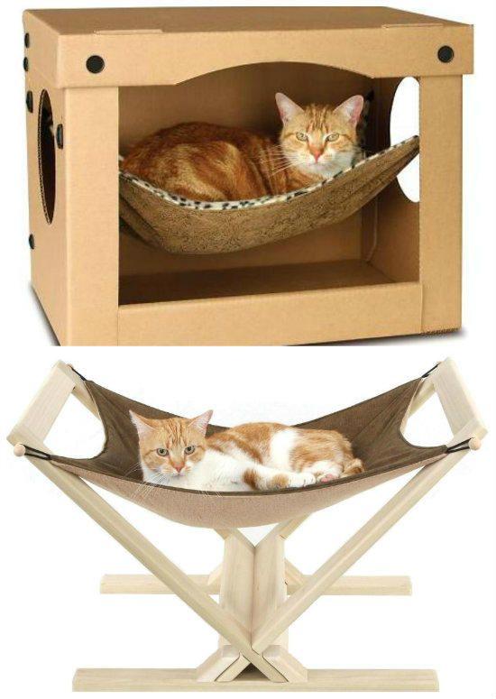 Hamacas para gatos mis ni os pinterest hamacas for Casetas para guardar cosas