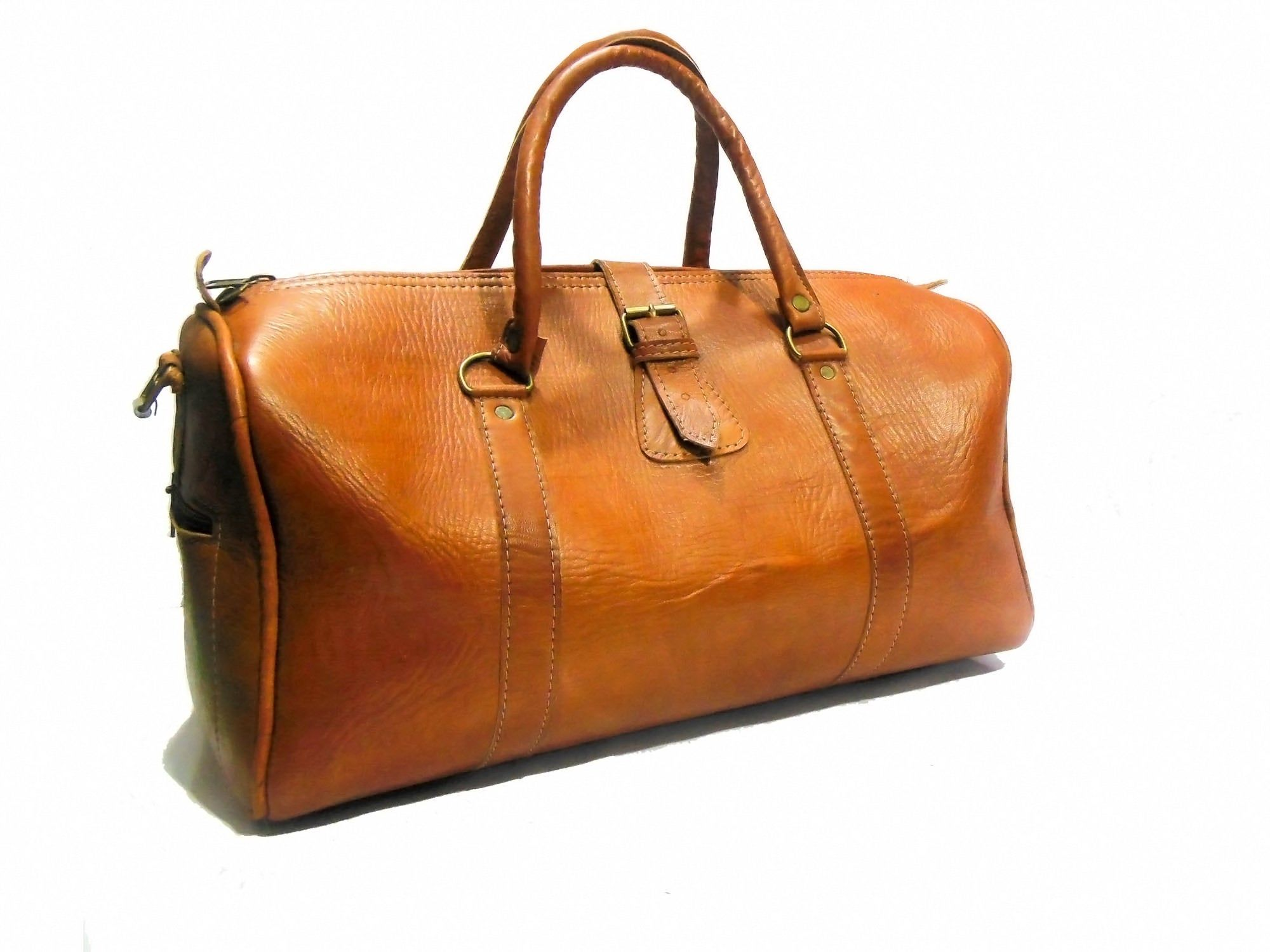 Cly Leather Duffel Bag Overnight