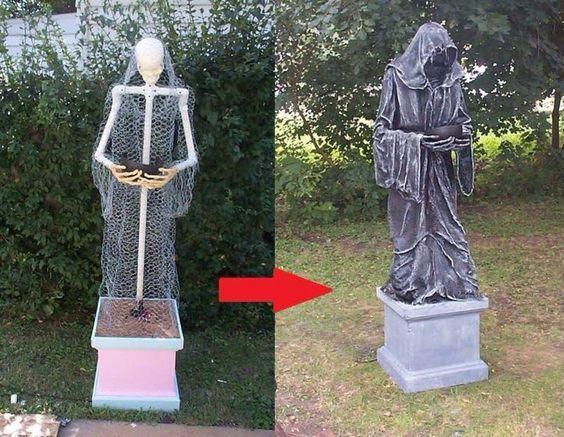 Grim Reaper from PVC pipes halloween Pinterest Grim reaper