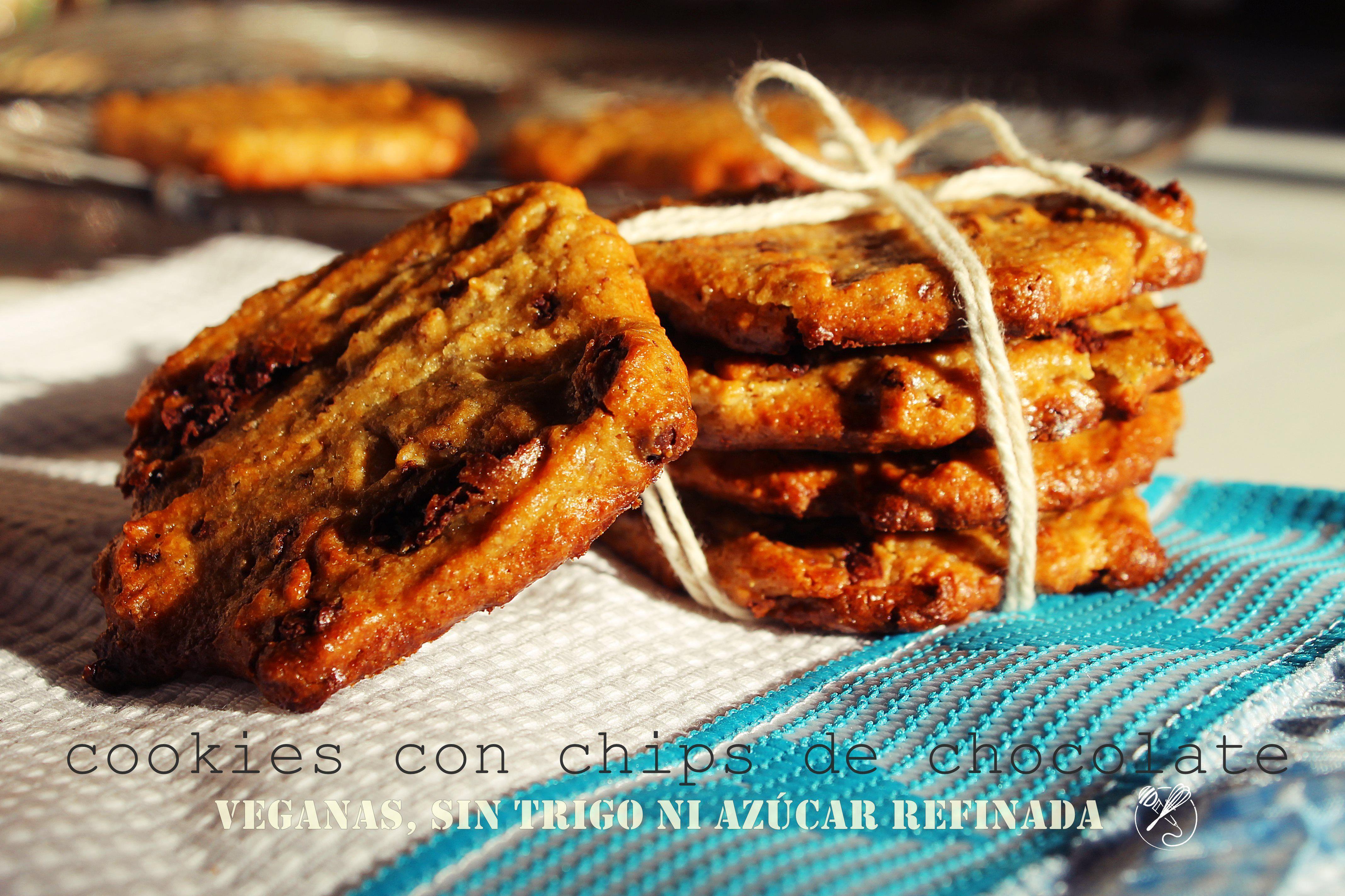 vegan, gluten-free, sugar-free chocolate chip cookies