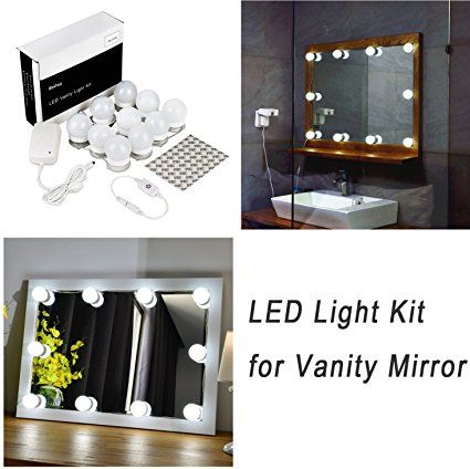 Hollywood Style Led Vanity Mirror Lights Kit For Makeup Dressing Table Vanity Set Mirrors Wit With Images Vanity Mirror Mirror With Lights Makeup Vanity Mirror With Lights