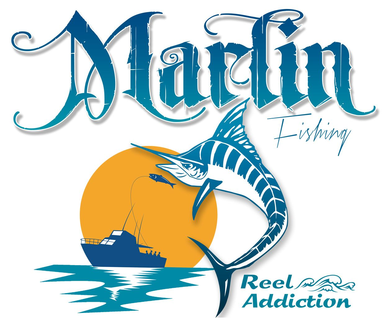 Marlin fishing t shirt saltwater fish t shirt offshore for Offshore fishing apparel