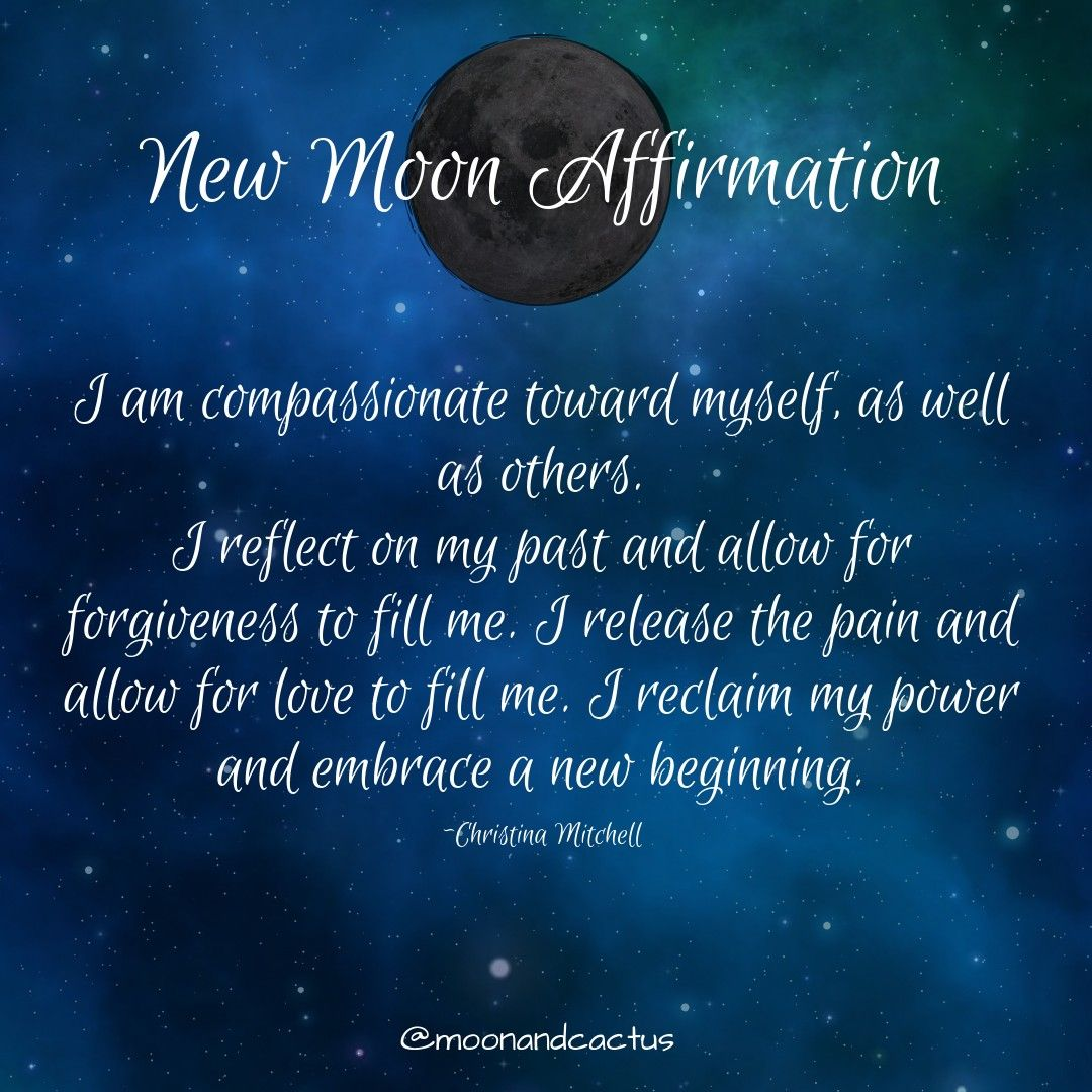 New Moon Affirmation With Images New Moon Rituals Moon Spells