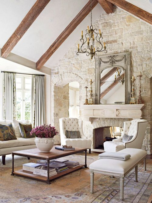 500 Beautiful Living Rooms With Fireplaces Of All Types  Shabby Best Chic Living Room Designs Decorating Design
