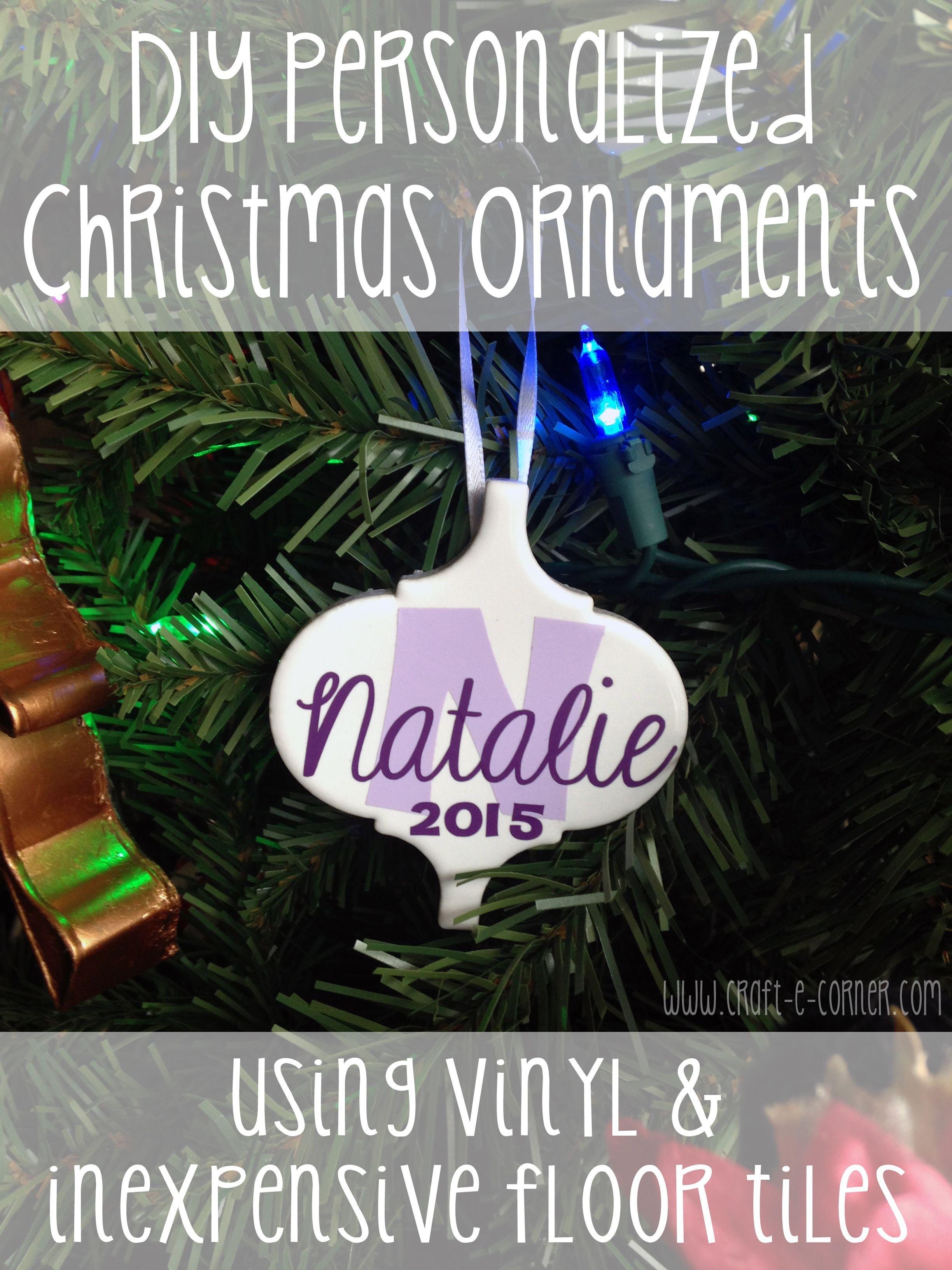 Diy Personalized Ceramic Tile Christmas Ornaments Craft E Corner Blog Christmas Ornament Crafts Christmas Ornaments Ornaments