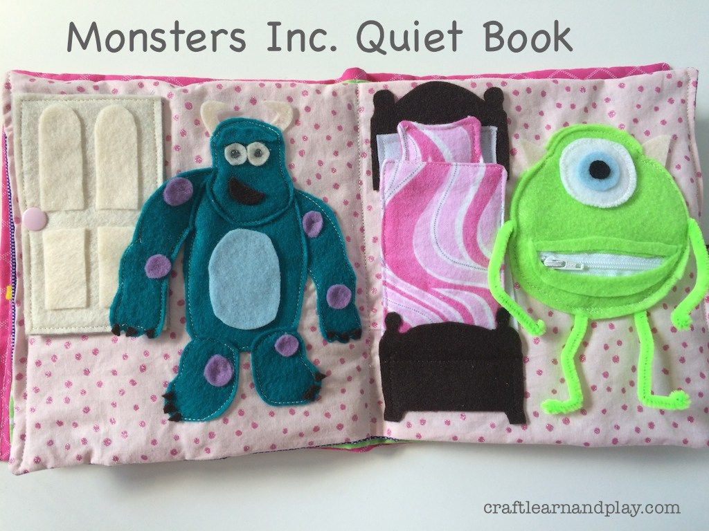 Custom made quiet books are my favourite things to sew. When I receive custom order it blows my imagination how to make activity pages. One of my favourite books I've made was Monsters Inc. t…