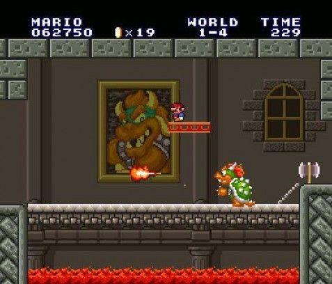 Mario vs Bowser in the Super Mario Allstars 25th anniversary