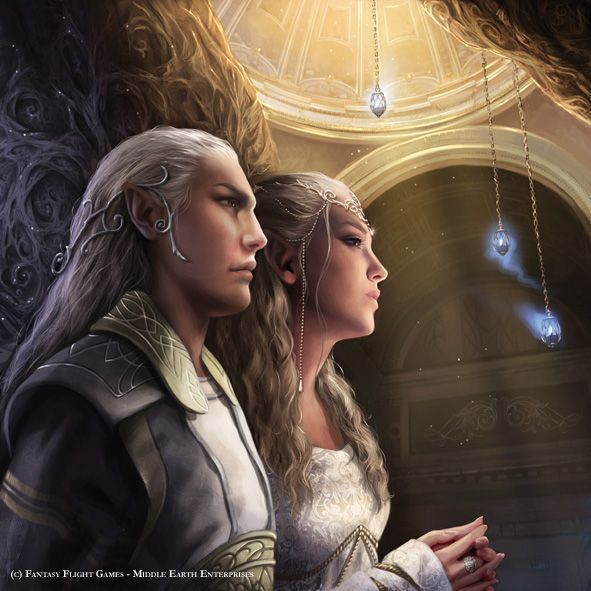 Day 8 My OTP. Thranduil and his wife. Even though she isn't in The Hobbit I still ship him and her.