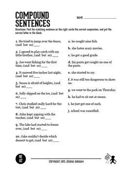 compound sentence practice 2nd grade school sentences sentence building grammar. Black Bedroom Furniture Sets. Home Design Ideas
