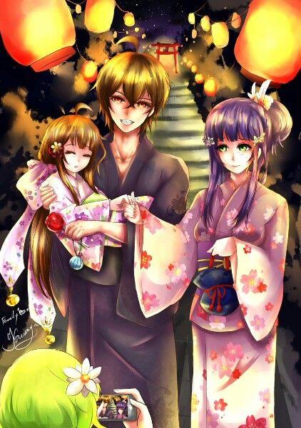 Family 3333 Enmadou Rokuro Adashino Benio Miko Twin Star