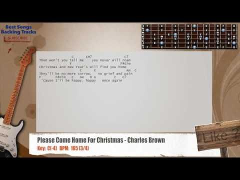 Please Come Home For Christmas Charles Brown Guitar Backing Track