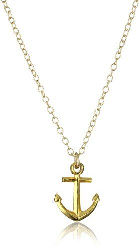 gorjana %22Anchor%22 Gold-Plated Necklace