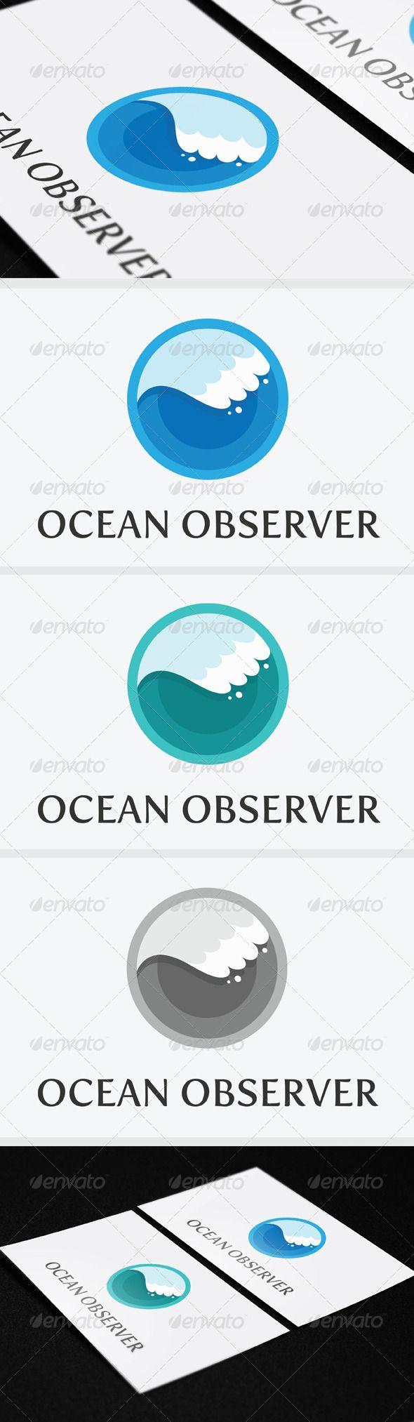Ocean Observer Logo Template GraphicRiver Ocean Observer