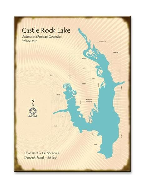 Lake Map Art 8 Lake Map Art Lake Map Castle Rock Lake