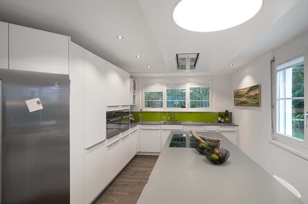 Küche Herrlich Glasrückwand Küchenumbau Für Eine Neue