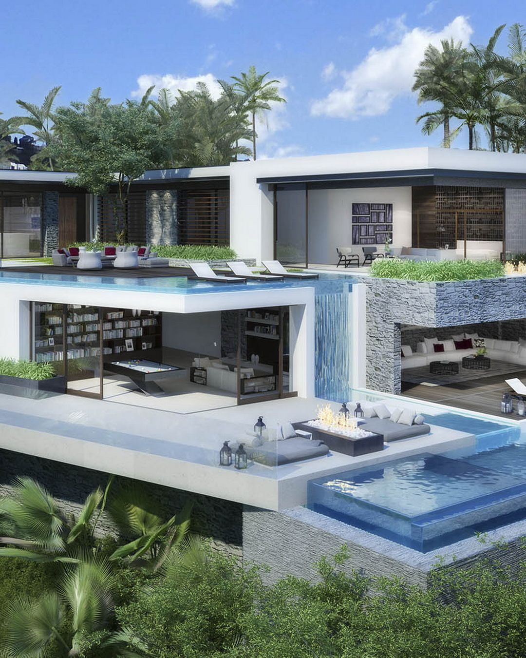 Luxury House Plans With Pools: 9380 Sierra Mar Dr., Hollywood Hills. Price: $19,000,000