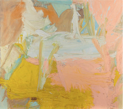 Tittle: Pastorale signed 'de Kooning' (lower left) Media: oil on canvas  Size: 70 x 80 in. (177.8 x 203.2 cm.)  Painted in 1963.