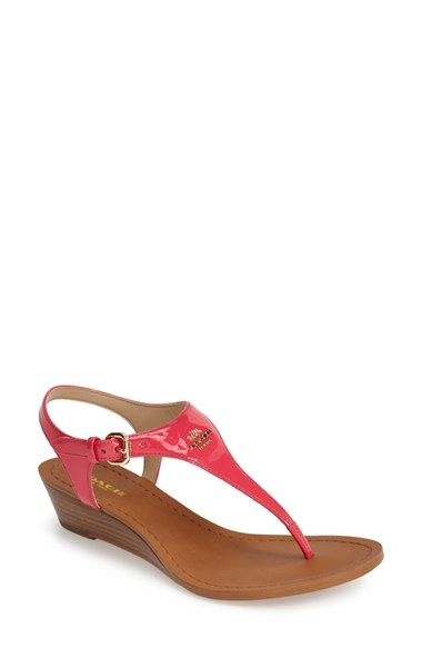 5f521506dab COACH  Vitalia  Thong Sandal (Women) available at  Nordstrom