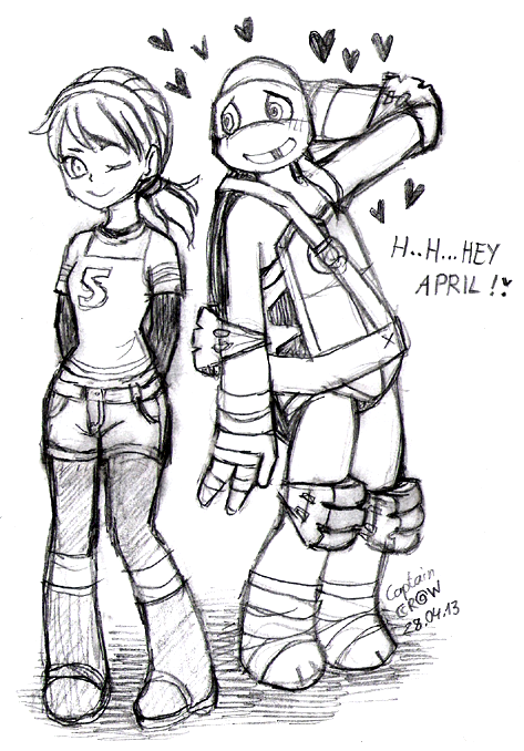 DONNIE and APRIL by Captain--Ruffy.deviantart.com on @deviantART ...