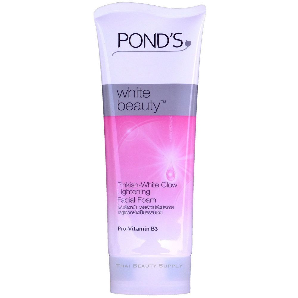 Ponds White Beauty Pinkish Glow Lightening Facial Foam 100g Package