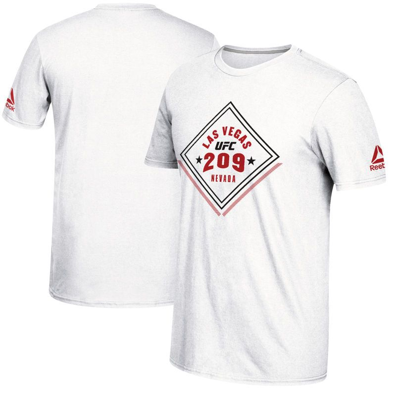 Reebok Ufc 209 Official Weigh In T Shirt White Products Shirts Ufc T Shirt