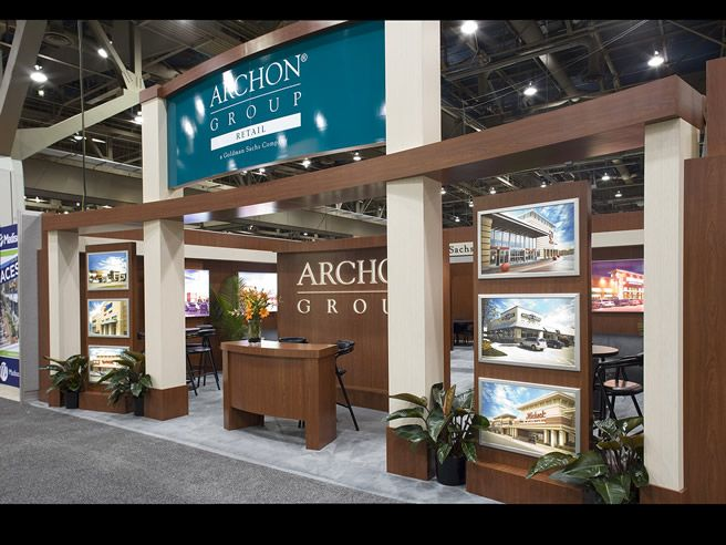 Trade Show Booth Builders : Custom built trade show display for archon group icsc
