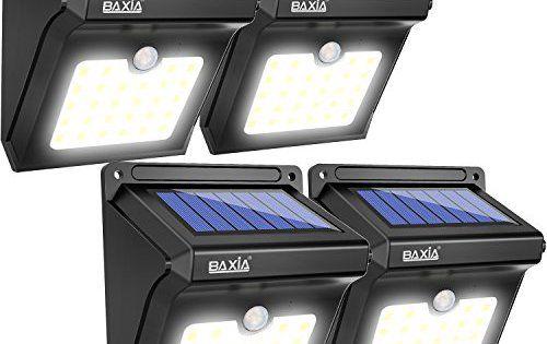 Baxia Lampe Solaire 28 Led Ampoule De Securite Avec Detecteur De