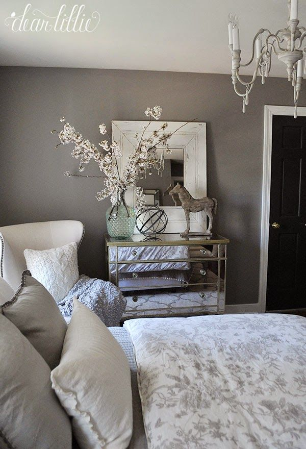 Jenni S Previous Home Gray Guest Room Dear Lillie Studio Home Decor Bedroom Bedroom Decor Cozy Bedroom Colors