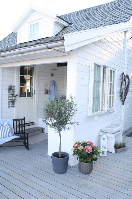 Henriette Lavik Our Patio A Few Views Of Lovely Norwegian Home White CottageWhite Exterior