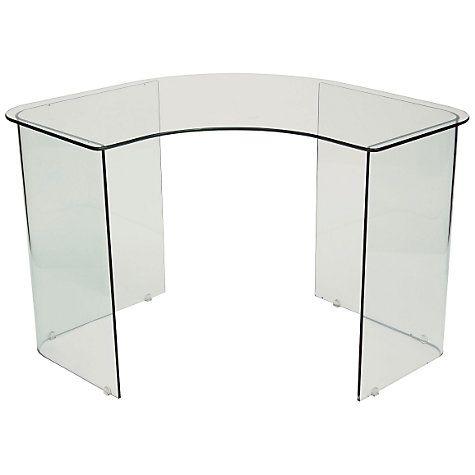 Merveilleux Buy John Lewis Staten Glass Corner Desk Online At Johnlewis.com