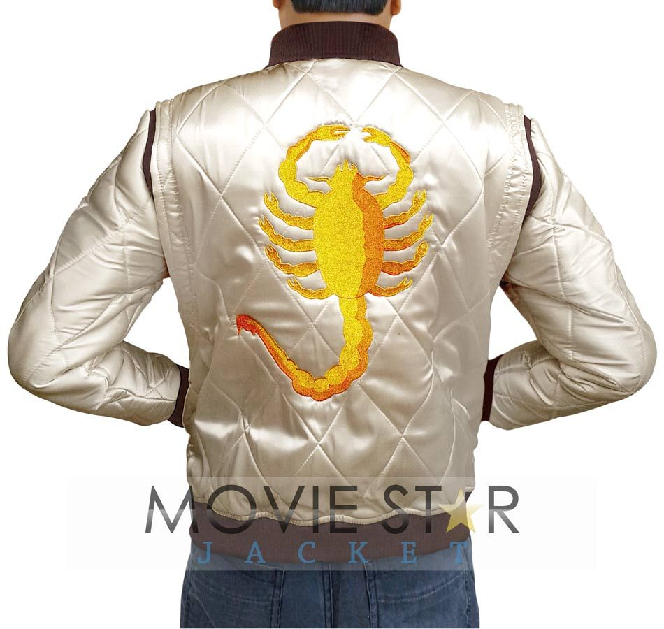 Get! Drive Scorpion jacket in good quality satin fabric and you can purchase with worldwide free shipping - Great chance to buy Ryan Gosling jacket with free surprise gift offer! So Quick click on this link to enter in fashion world for complete your wishes (http://www.moviestarjacket.com/products/Ryan-Gosling-Drive-Golden-Scorpion-Jacket.html)