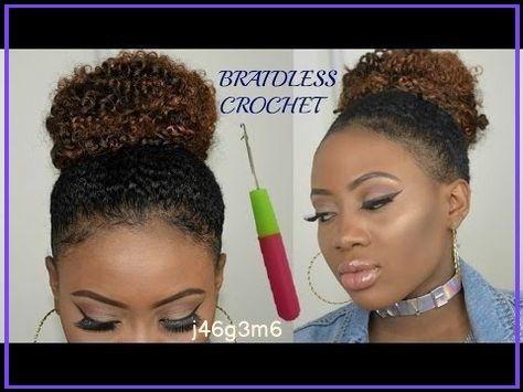 Braidless Crochet Updo High Puff On Short Hair Jorie Hair Vozeli Com