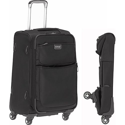 """(Limited Supply) Click Image Above: Biaggi Contempo Foldable 22"""" Spinner Carryon Black - Biaggi Small Rolling Luggage"""