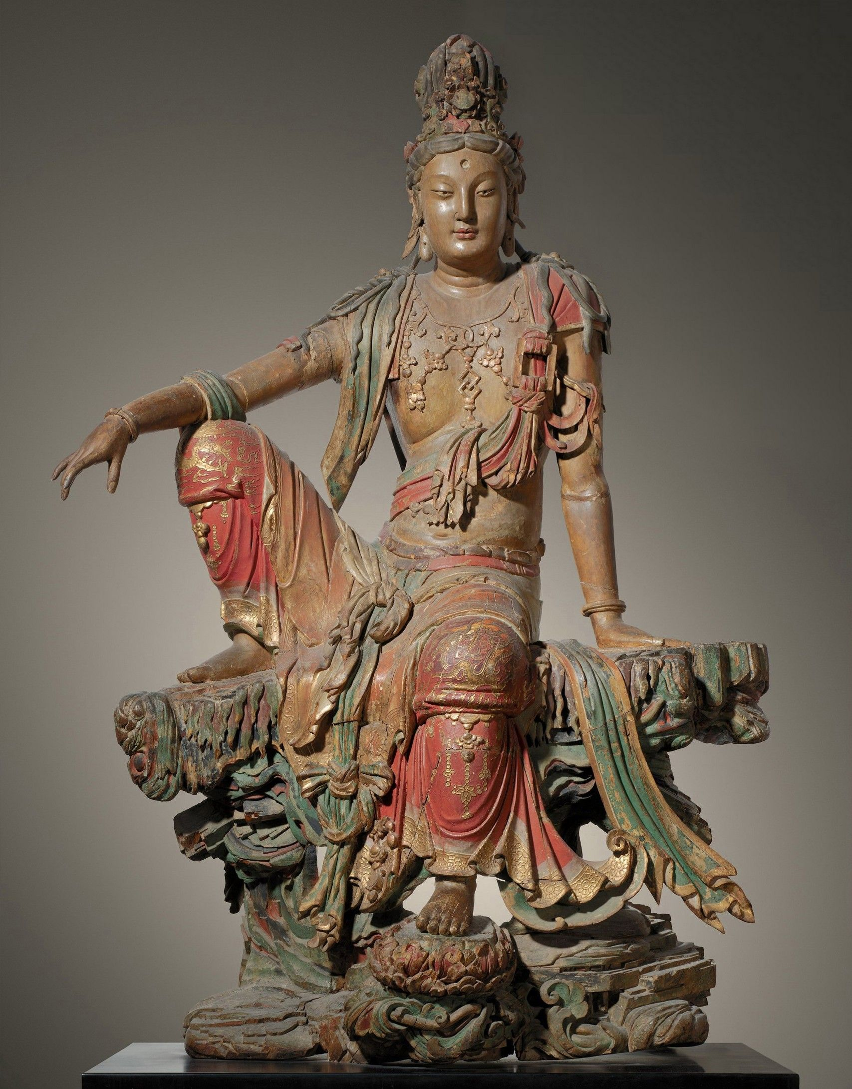 Guanyin of the Southern Sea, Liao (907-1125) or Jin Dynasty (1115-1234) Chinese