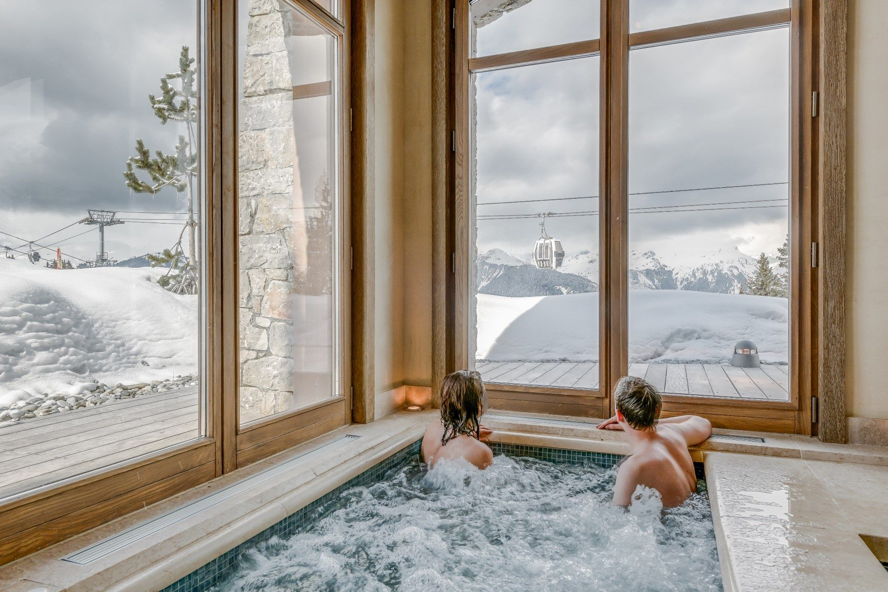 What A View From The Hottub Snow Bubbles Colorado Resorts Indoor Jacuzzi Luxury Ski Chalet