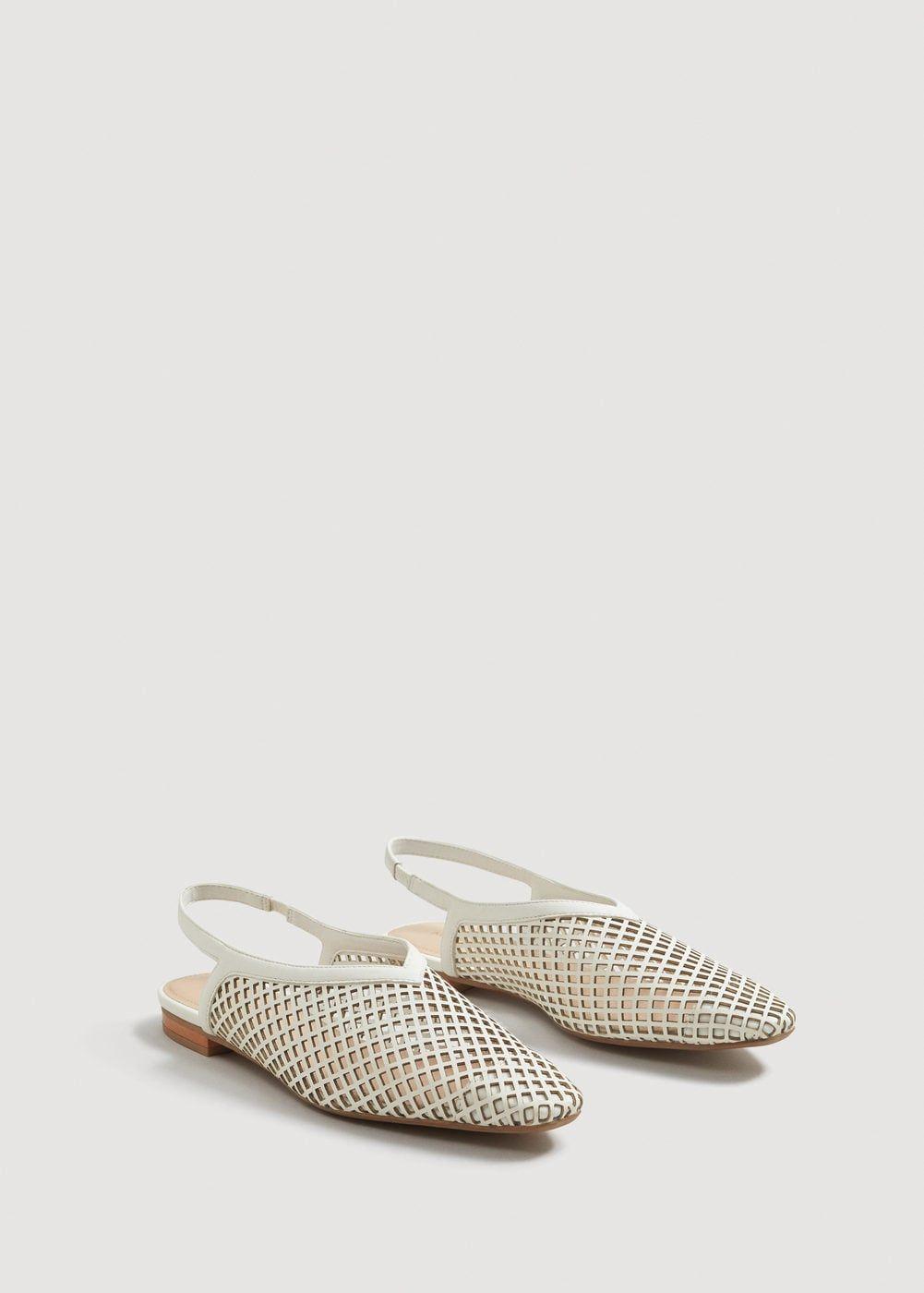 6f8b95f61ced0 Laser-cut slingback shoes - Women | Accessories | Slingback shoes ...