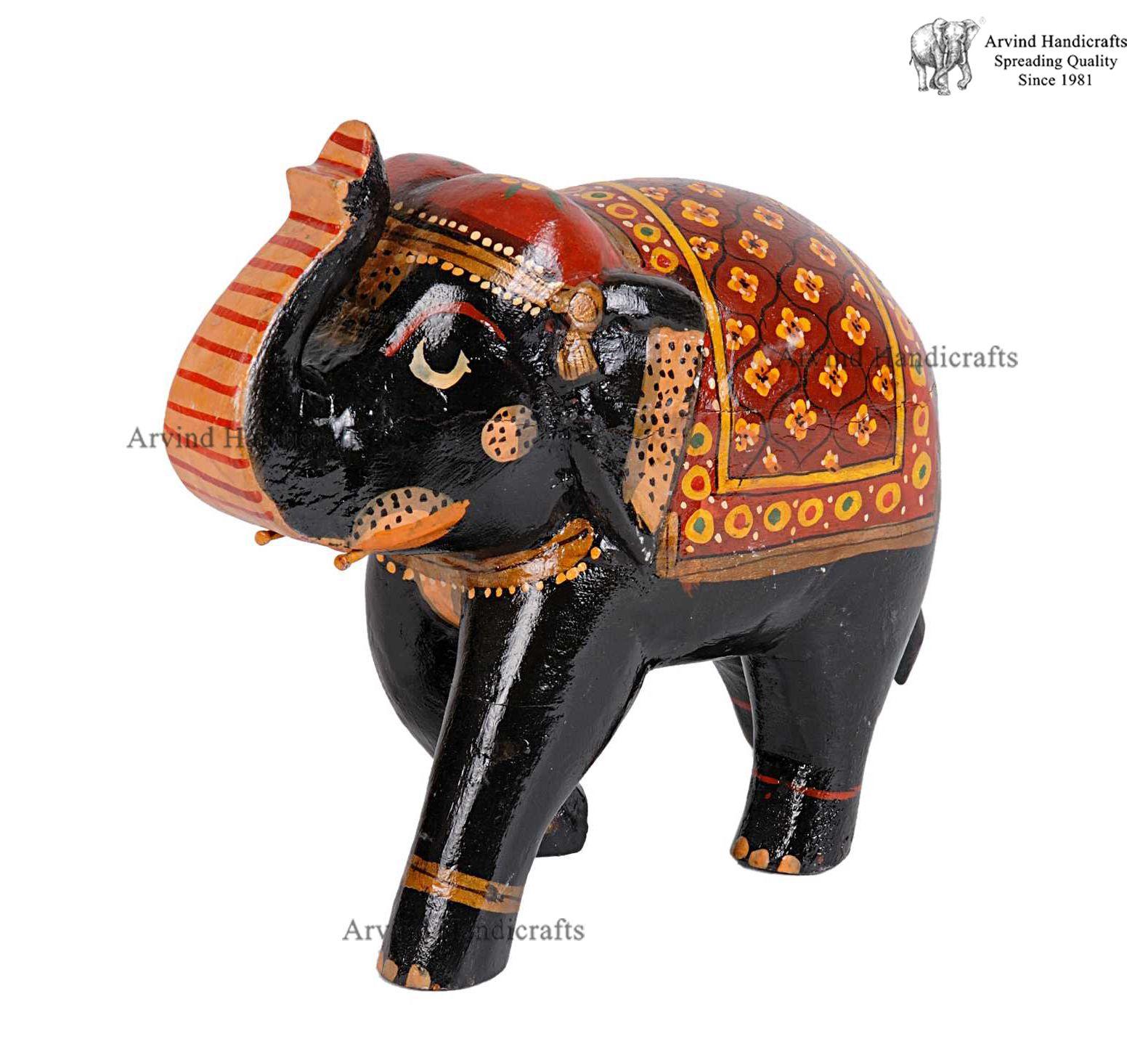 Wooden Elephant Sculpture Elephant Sculpture Wooden Elephant Elephant Painting