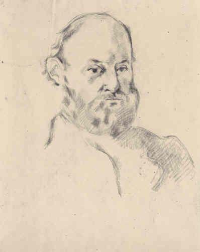Art Drawings Vintage Pencil Drawing Portrait Paul Cézanne...