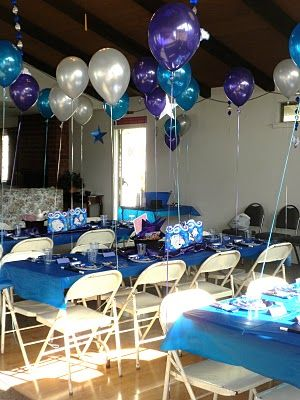 Blue And Silver Music Party Theme Ideas