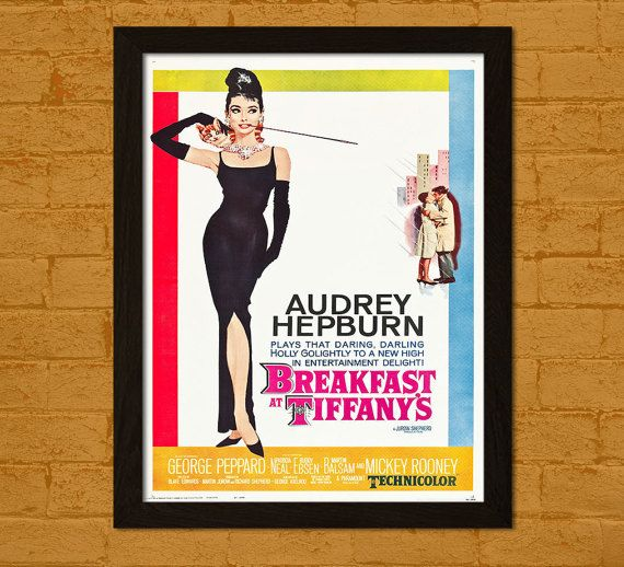 Breakfast at Tiffany's Poster 1961 - Audrey Hepburn Poster Retro Movie Poster Wall Decor Wall Art Poster Old Movie Print BUY 3 GET 1 FREE