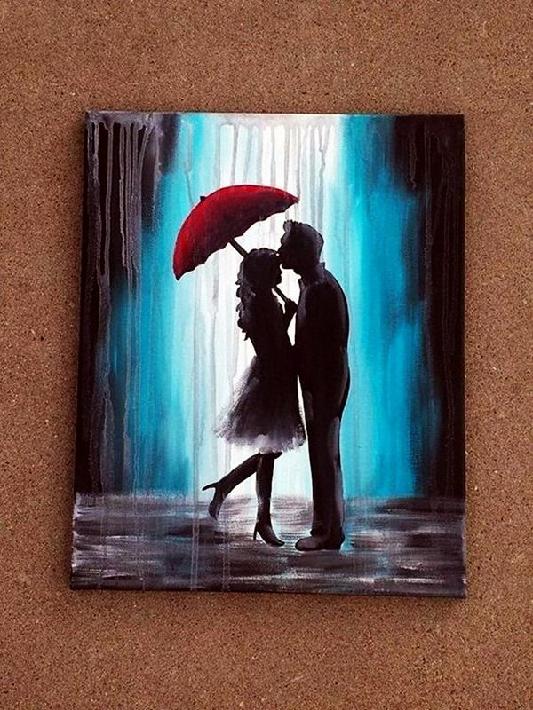 30 best canvas painting ideas for beginners canvases for Back painting ideas easy