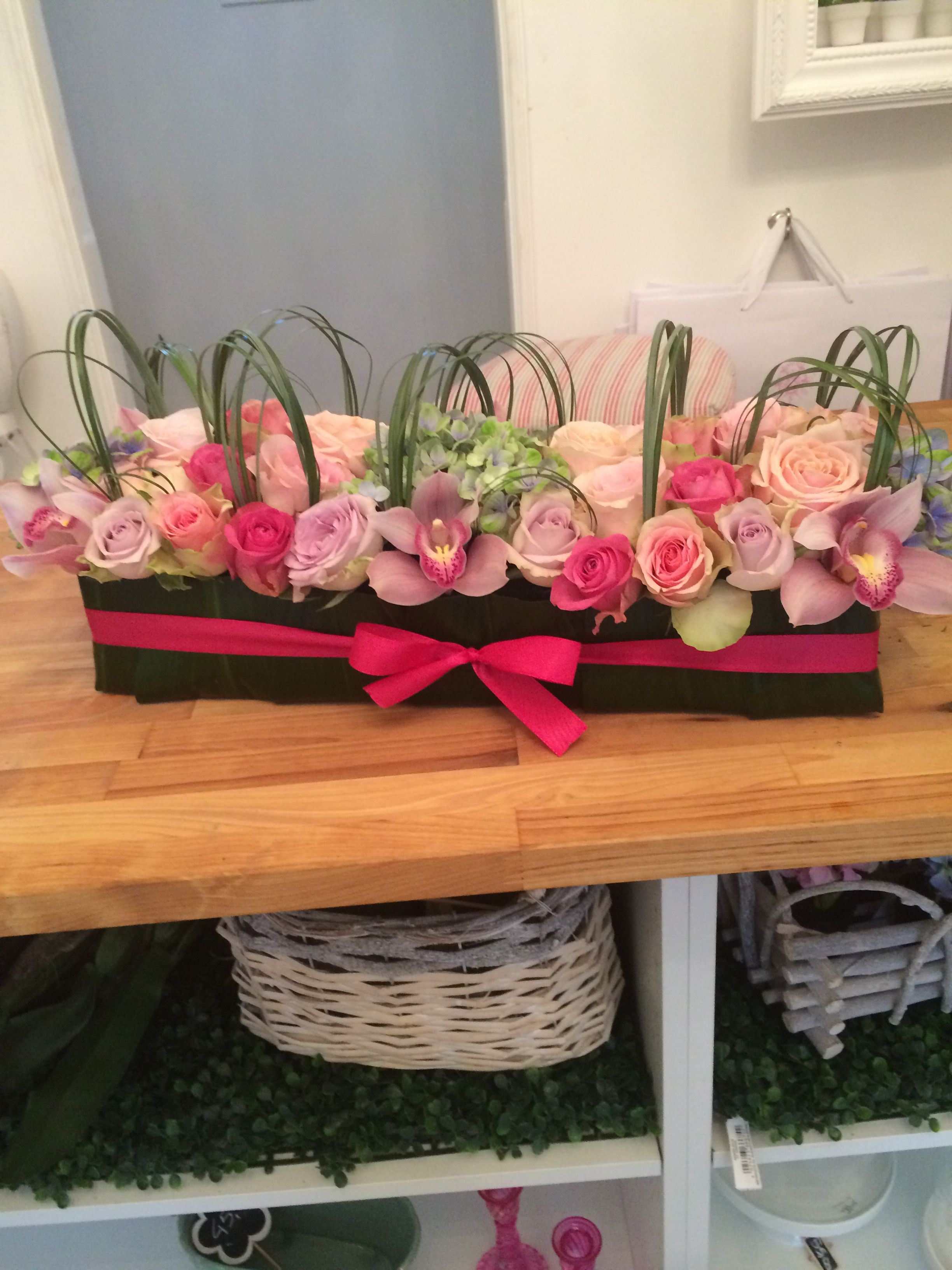 Sushi flowers rosa, lilla, fuxia, per tavolo buffet