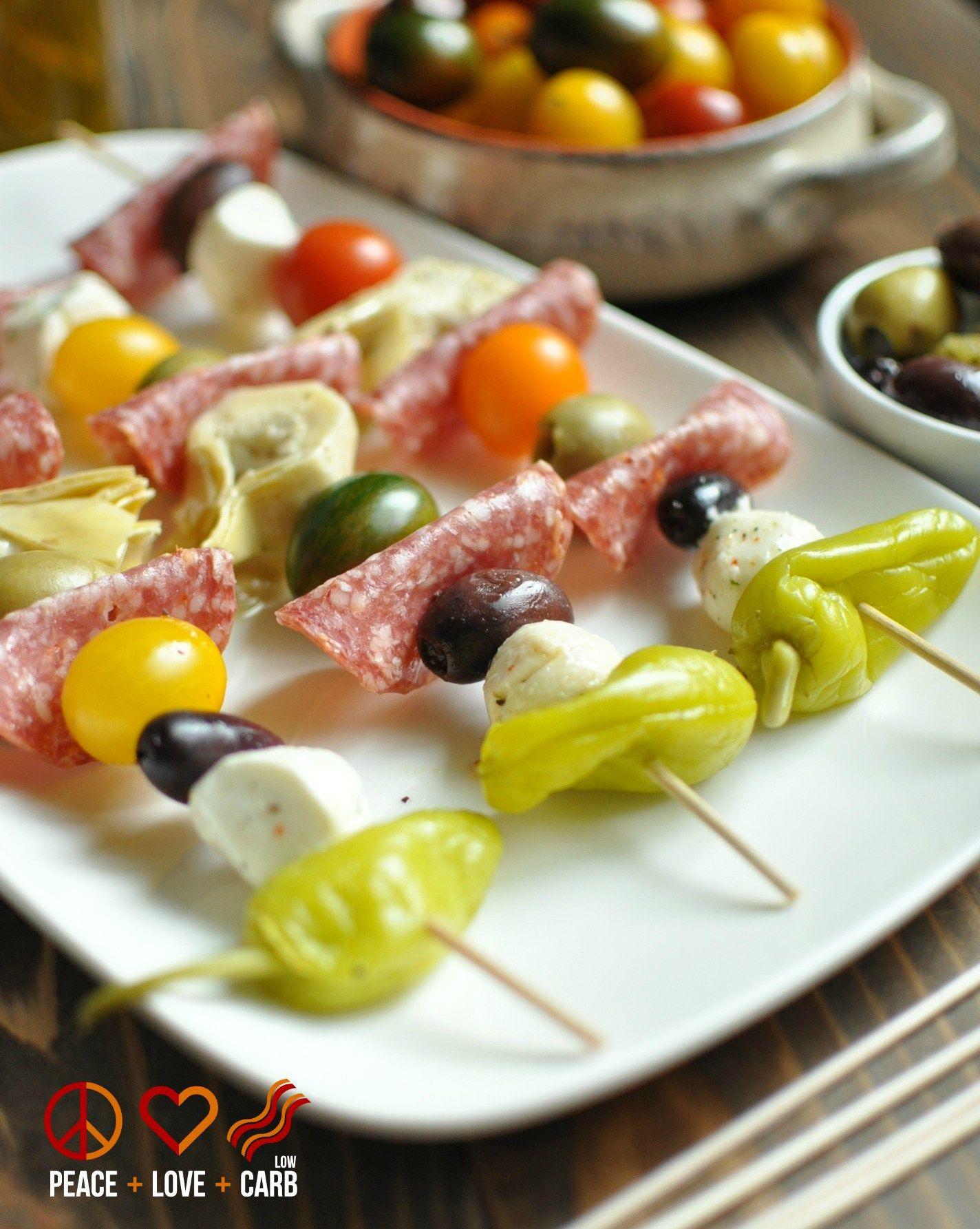 Antipasto Kebabs Low Carb Gluten Free Recipe