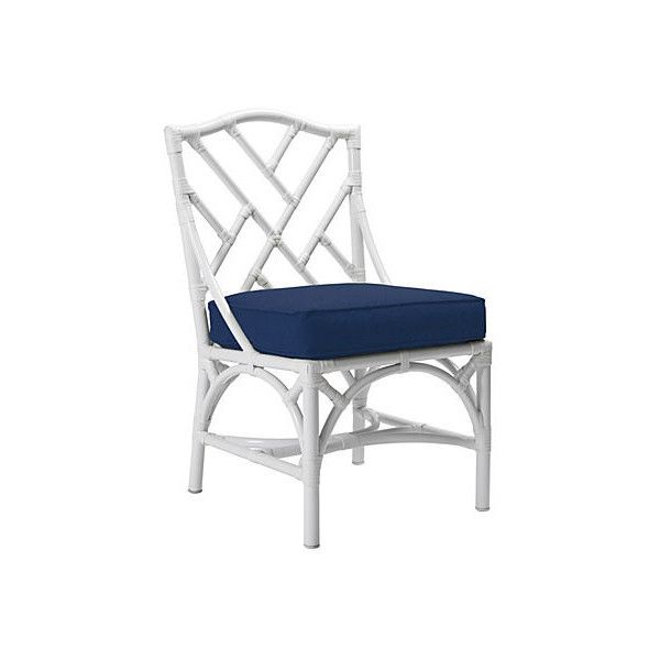 Chippendale Outdoor Side Chair Navy Dining Chairs 899 Liked On Polyvore Featuring