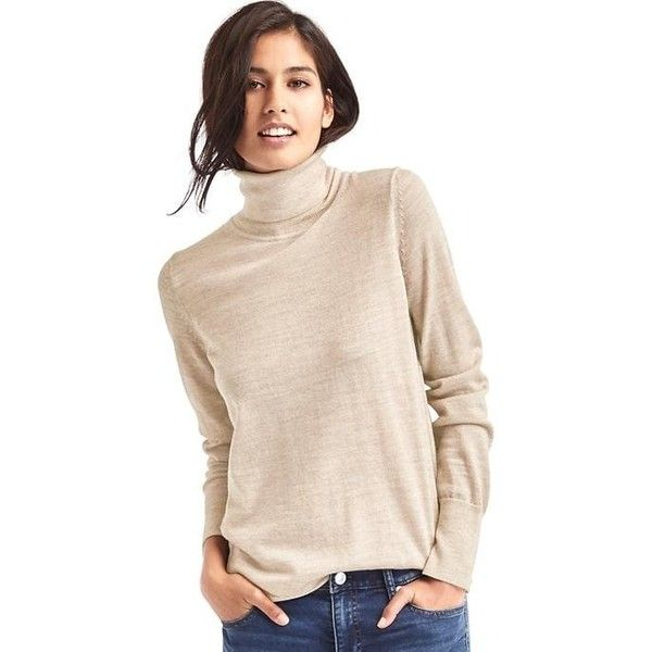 Gap Women Merino Wool Turtleneck Sweater ($48) ❤ liked on ...