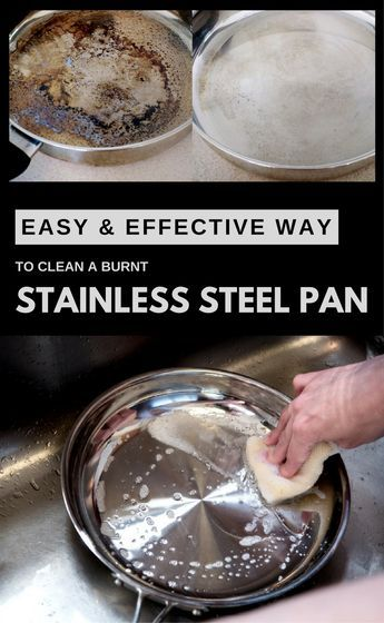 Easy And Effective Way To Clean A Burnt Stainless Steel Pan