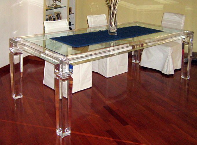 Beau Acrylic Dinner Table U0027Afroditeu0027 2500x1200h750mm