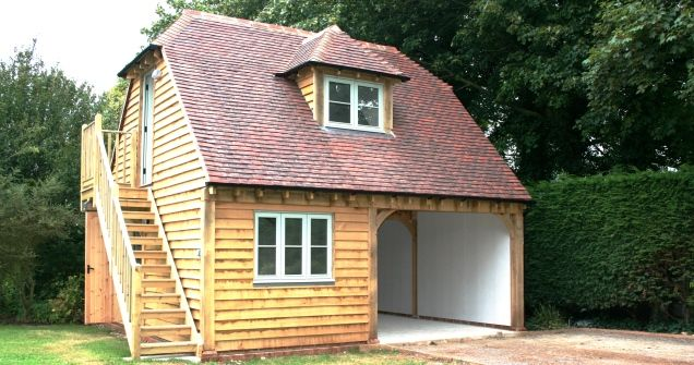Oak buildings with 1st floor accommodation border oak for Double garage with room above plans