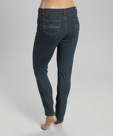 Look at this #zulilyfind! Vintage Blue Skinny Jeans - Plus #zulilyfinds