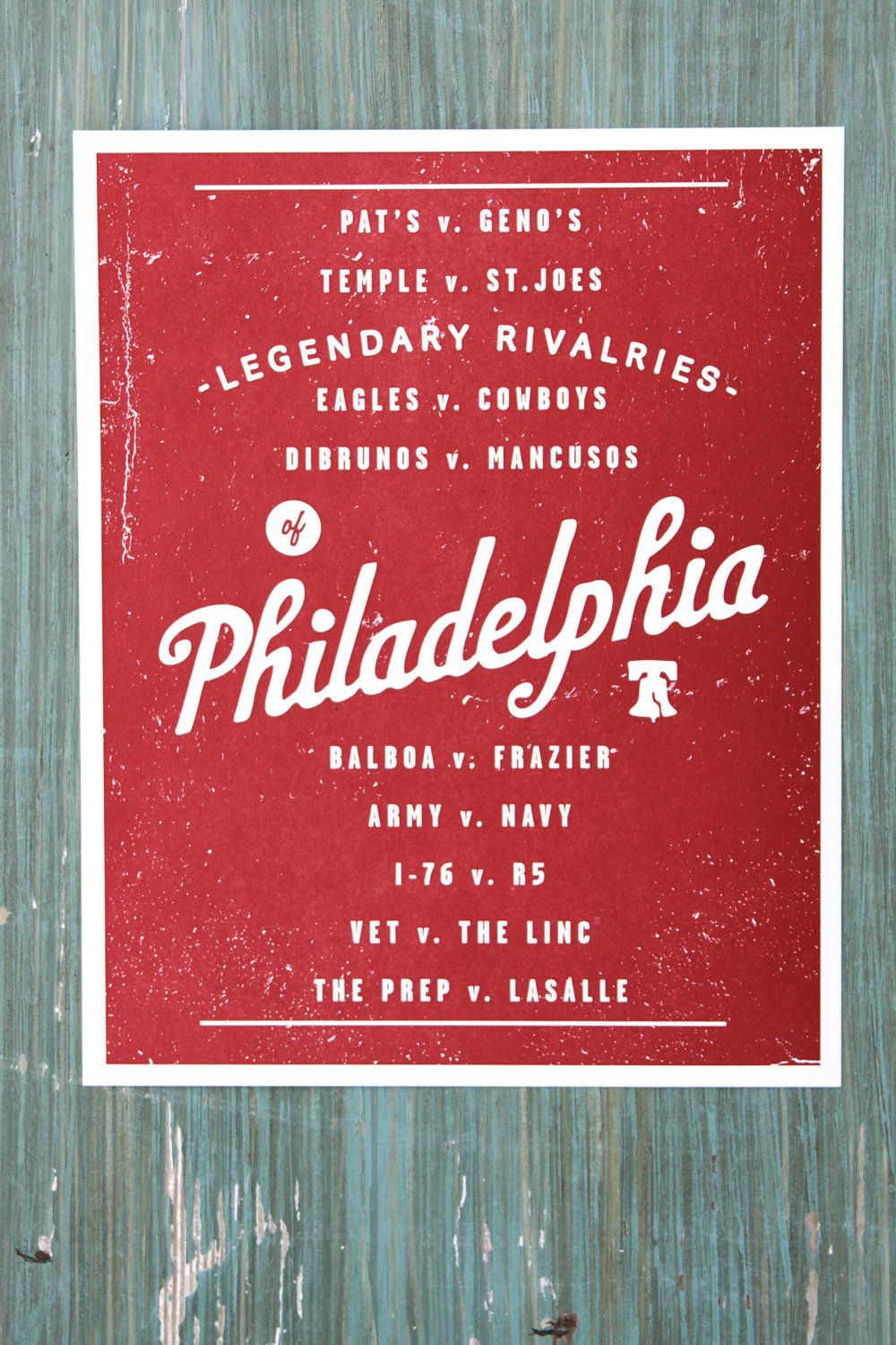 Philly Rivalries Print White | Pinterest | Printing, City and ...